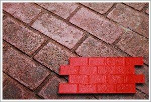 Worn Brick Running Bond Decorative Concrete Stamp Set