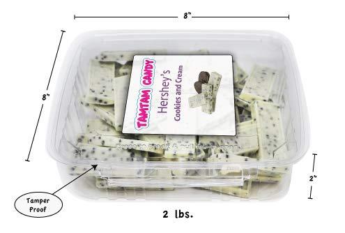 Hershey's Cookies n Cream Bar | Unwrappred Snack Size Bar | Bulk - 2 lbs]()