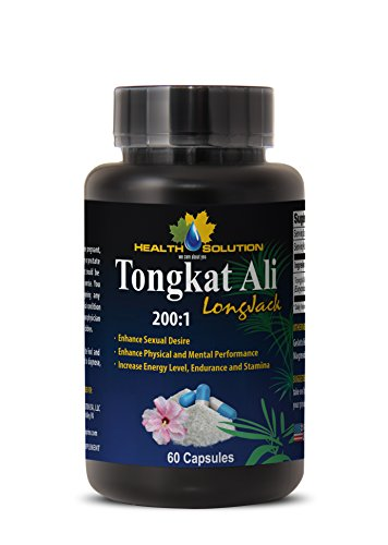 Increase Sex Drive for Women TONGKAT ALI Root Premium Extract 200 : 1 Tongkat ali Female 1 Bottle 60 Capsules