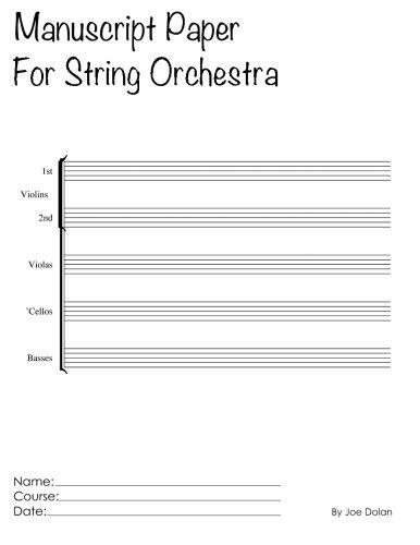 Read Online Manuscript Paper For String Orchestra: Scholar Series Student Manuscript Books From LayFlat Sketchbooks pdf