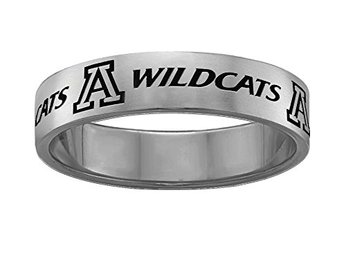 Arizona Wildcats Rings Stainless Steel 6mm Wide Ring Band Size 9.5 Arizona Wildcats Wildcat Ring