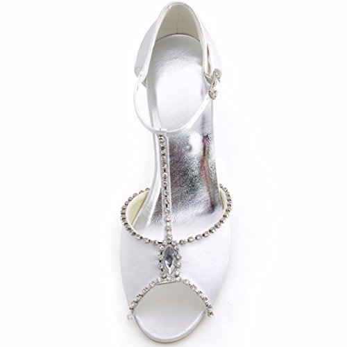 Minitoo 9 Minitoouk mz8218 Bianco Eu Donna Sandali Heel 5cm white 35 rYrOBS