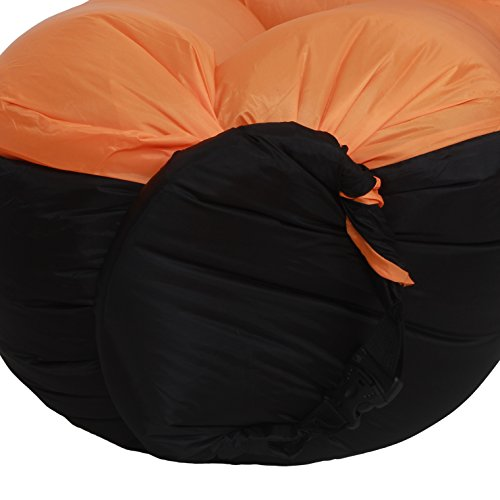 OUSUN inflatable lounge chair, airsofa, inflatable lounger, ideal for music festival and camping, inflatable air lounger-Orange by OUSUN (Image #2)