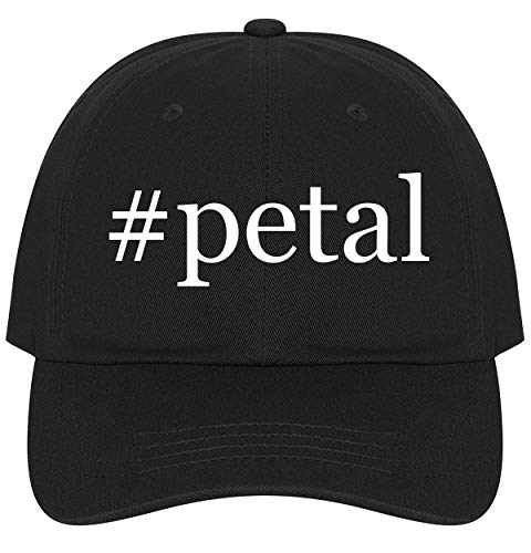 (The Town Butler #Petal - A Nice Comfortable Adjustable Hashtag Dad Hat Cap, Black)