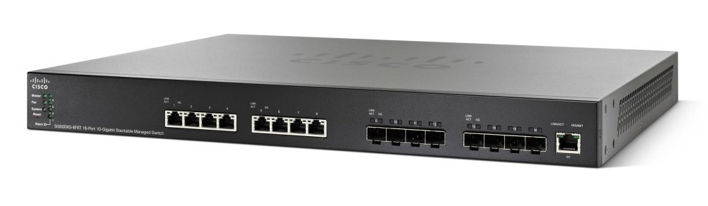 Cisco SG500XG8F8TK9NA 16-Port Gigabit PoE Switch by Cisco Systems