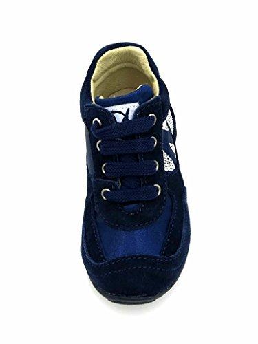 Naturino Kinderschuhe Sneaker Leder Schuhe 4504 Schnürer Navy