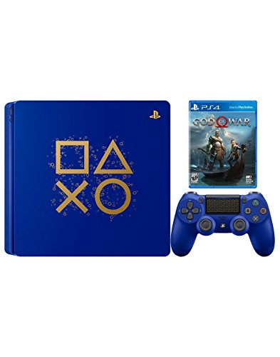 PlayStation 4 Days of Play God of War Bundle: PlayStation 4 Slim 1TB Days of Play Limited Edition Console, DualShock 4 Wireless Controller and God of War Game Disc