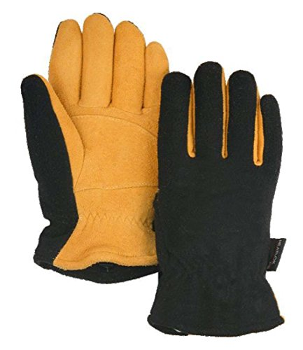 - HEATLOK! Winter Gloves, Cold Proof Thermal Glove - Deerskin Suede Leather Palm and Polar Fleece Back with Heatlok Insulated Cotton Layer - Stay Warm in Cold Weather!