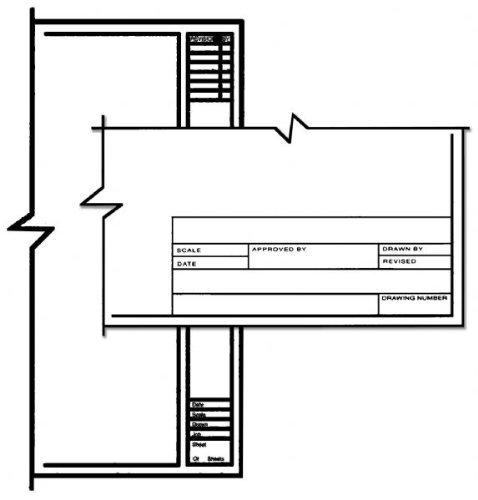 Alvin CP10211222 Clearprint 18'' x 24'' 1000HTS-A Title Border Vellum
