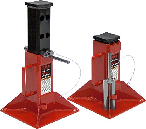 Norco Professional Lifting Equipment 81225i Heavy Duty 25 Ton Capacity Jack Stands - Pin Type (Imported) (Set of 2) (Norco Stands Jack)