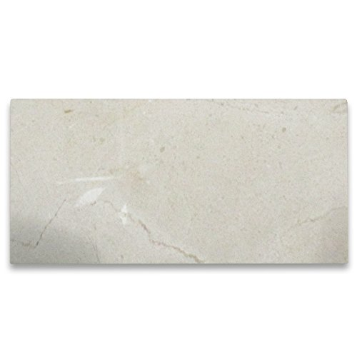 Crema Marfil Spanish Marble 3x6 Subway Tile Polished - 200 ()