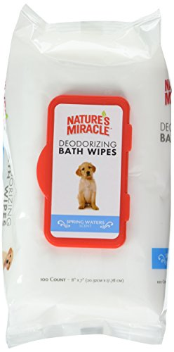 Nature's Miracle Deodorizng Spring Water Wipes, 100 Count (Best Pug Face Wipes)