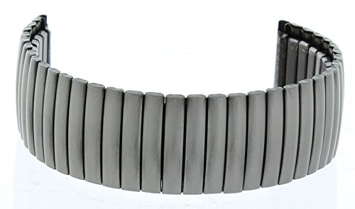 20MM Expandable Watch Band Gun Metal Color (Expandable Watch Band)