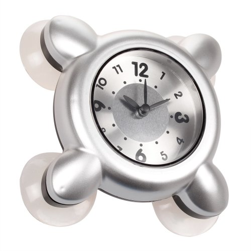 montre etanche horloge dans la salle de bains et la douche cuisine argent4 ventouses amazonfr cuisine maison - Horloge Salle De Bain Ventouse