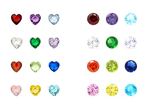 - Birthstone Charms - 96Pcs 5mm Birthday Crystal Charms for Glass Living Floating Memory Locket Bracelet Pendant Necklace