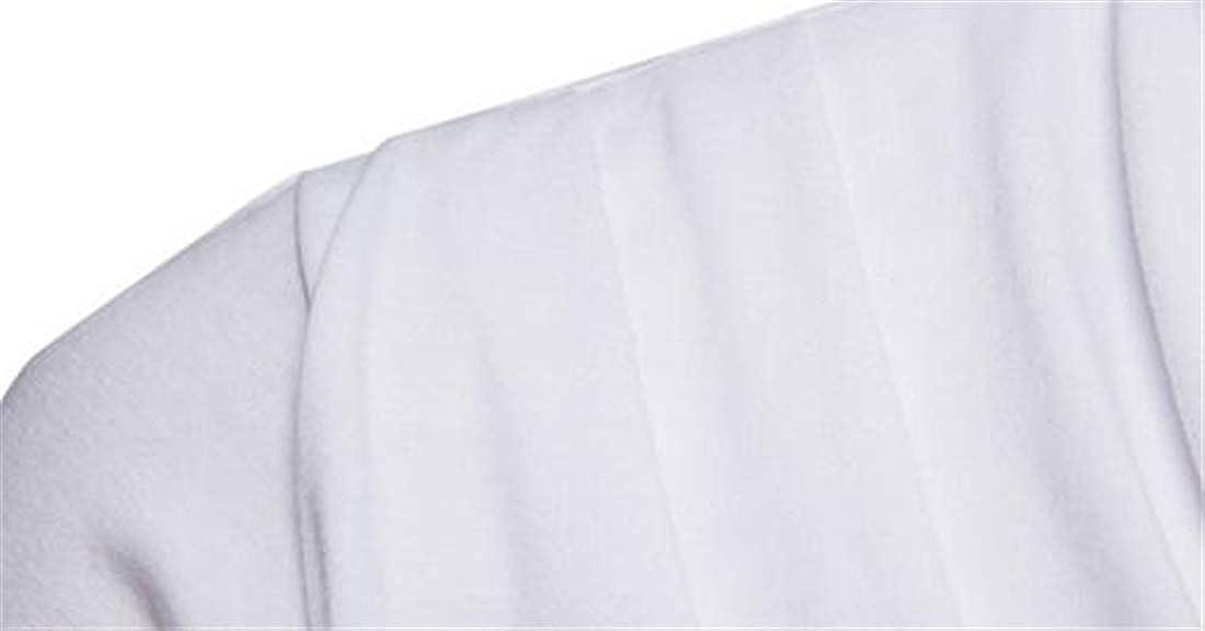 Frieed Men Autumn Long Sleeve Hipster Irregular Hip-hop Slim Fit Slit Shirt Tops