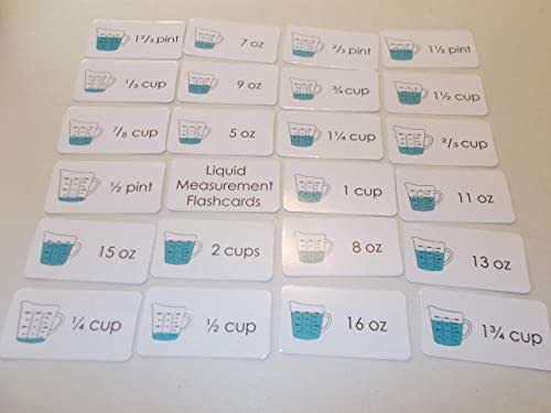 Amazon.com: 23 Laminated Liquid Measurement Flashcards