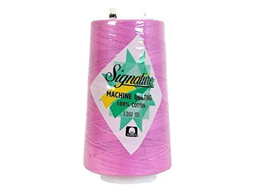 Signature Cotton Quilting Thread, 3000 yd, Solids Pink Heart