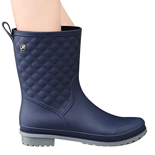 LaoZan - Women's Classic Waterproof Breathable and Warm Boots Blue QuYOmQzE