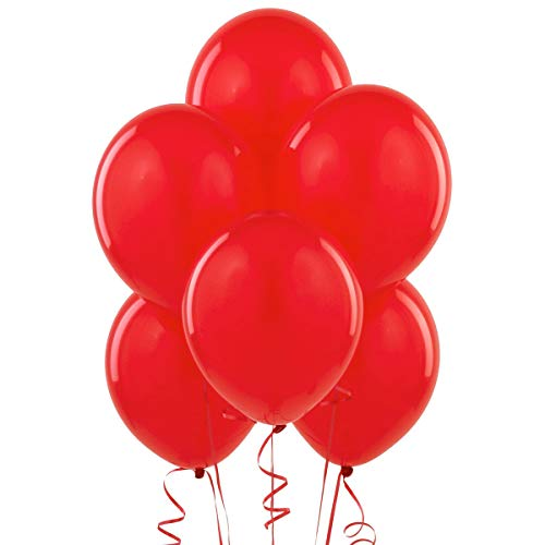 12 Inch Latex Balloons (Premium Helium Quality), Pack of 100, Red