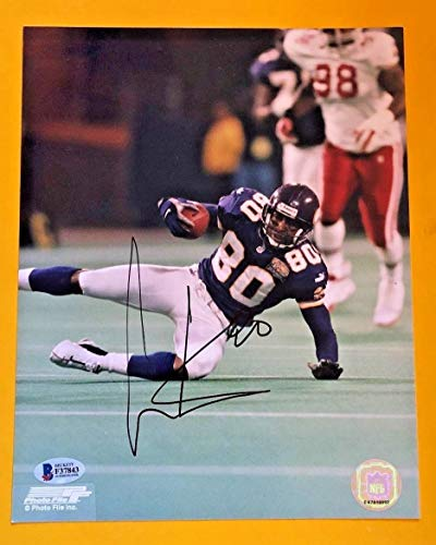 Cris Carter Autographed Signed 8x10 Minnesota Viking Photo Beckett Certified (Cris Carter Photograph)