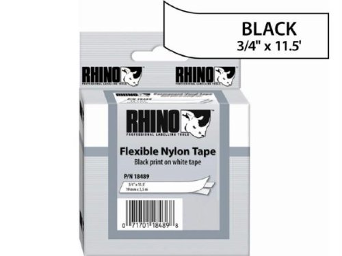 Dymo Dymo Rhino 3/4In X 11.5Ft White Flexible Nylo...