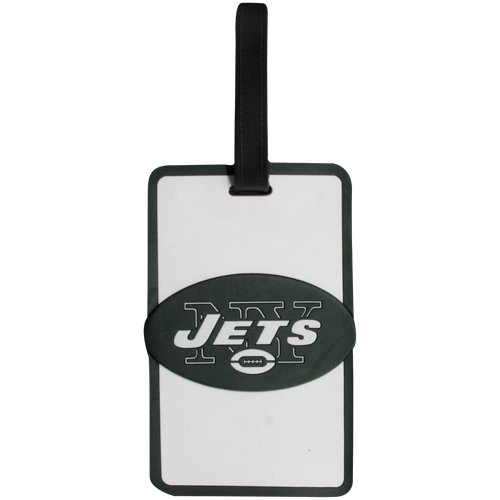 aminco NFL New York Jets Soft Bag Tag, 7.5, Green