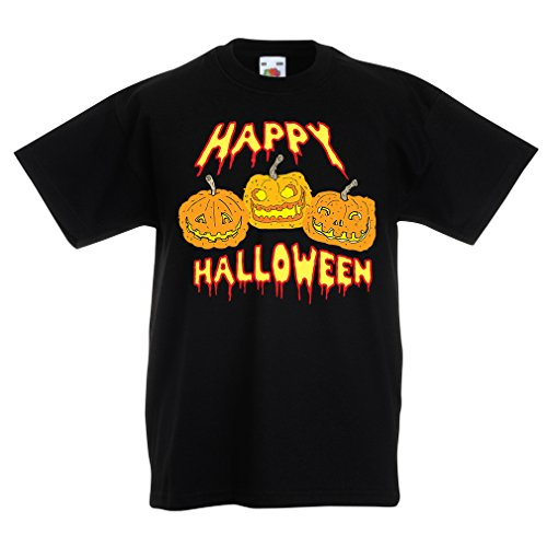 T Shirts for Kids Happy Halloween! Party Outfits & Costume - Gift Idea (14-15 Years Black Multi Color) ()