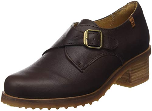 con Tacón Brown Marrón N5109 Brown para Mujer de El Soft Zapatos Punta Grain Naturalista Kentia Cerrada Brown TwzxqS4UB