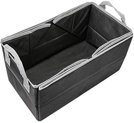 FH Group Multi-Use Collapsible Trunk Storage Bin and Travel Mat for Car (Black)- FH1148