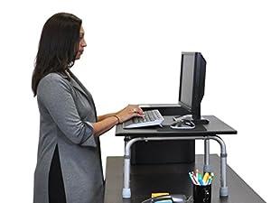 """24"""" Adjustable Height Standing Desktop Desk"""