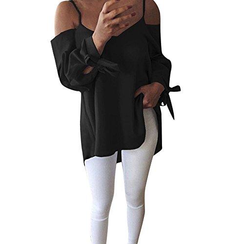 Sunnyuk Blusas Verano para Mujer Fuera del Hombro Top Sexy ...