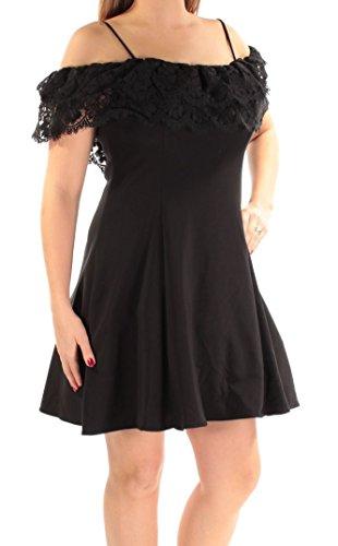Trim Womens N Sheath amp; 8 Adam Black Fit Flare Lace Dress Betsy gwxfIAqx