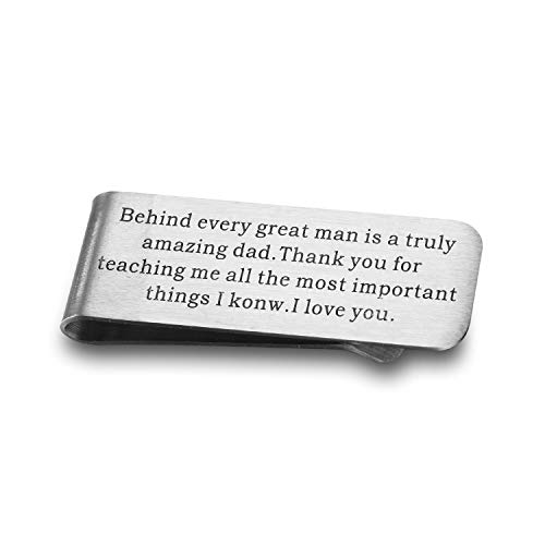 Udobuy Father of The Groom Gift, Father of The Groom Money Clip, Personalized Gift for Father of The Groom, Father in Law Gift, from Son,Money Clip for Dad, Gift for Fathers Day, DADD