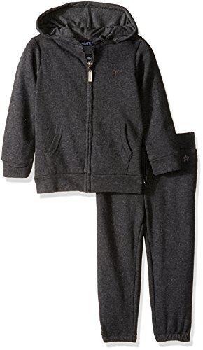 Limited Too Little Girls' French Terry Jogger Set, Dark Heather Grey, 5/6