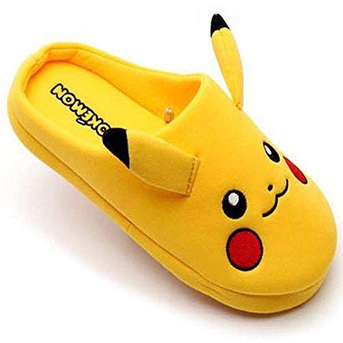 Women's Go Men's Unisex Pikachu House Shoes Women Warm Pokemon Character Japan Indoor Winter Slipper tAIw4