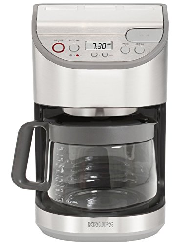 KRUPS-KM611D-Precision-Programmable-Coffee-Maker-with-Aroma-Selection-and-Stainless-Steel-Housing-12-Cup-Silver