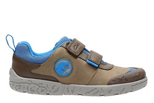 Clarks Brontoglow Inf, Zapatillas para Niños Brown/ Combi