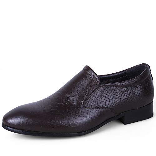 Dark Khaki Shuo lan hu wai Hommes d'affaires Oxford Casual Simple Classic British Fashion Breathe Chaussures Formelles,Chaussures de Cricket (Couleur   Marron, Taille   39 EU) 39 EU
