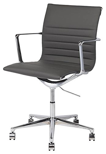 Nuevo Antonio Faux Leather Office Chair in Gray ()