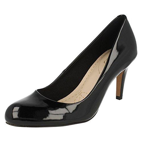 Carlita Cove Wide Fit - Black Leather