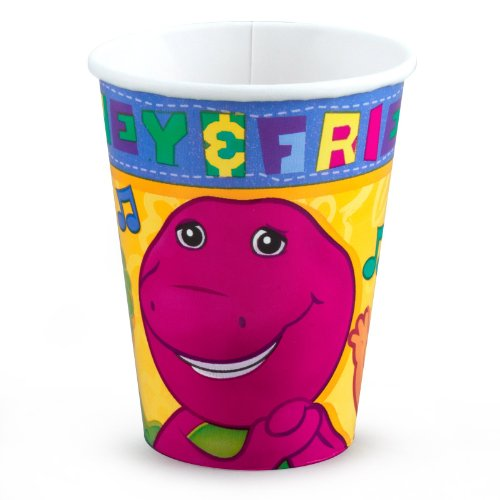 [Barney 9 oz. Paper Cups] (Barney Costume For Baby)