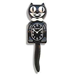 Kit-Cat BC01 Classic Black Clock, Large