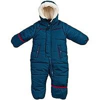 Ben Sherman Baby Boys Bubble Snowsuit Polar Fleece Lined Pram with Sherpa Fur Hood (Newborn/Infant)