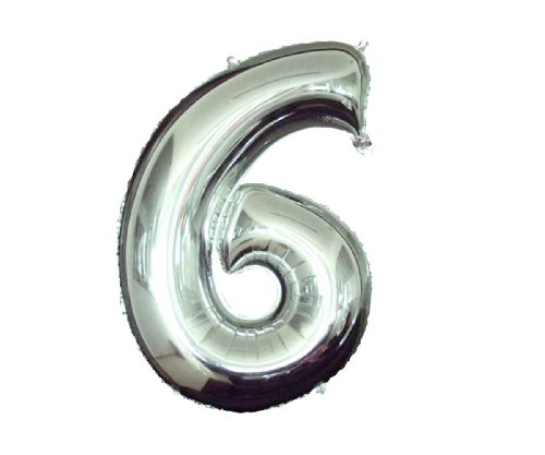 Babytree Numbers 0-9 Birthday/Party Balloons (6), 40