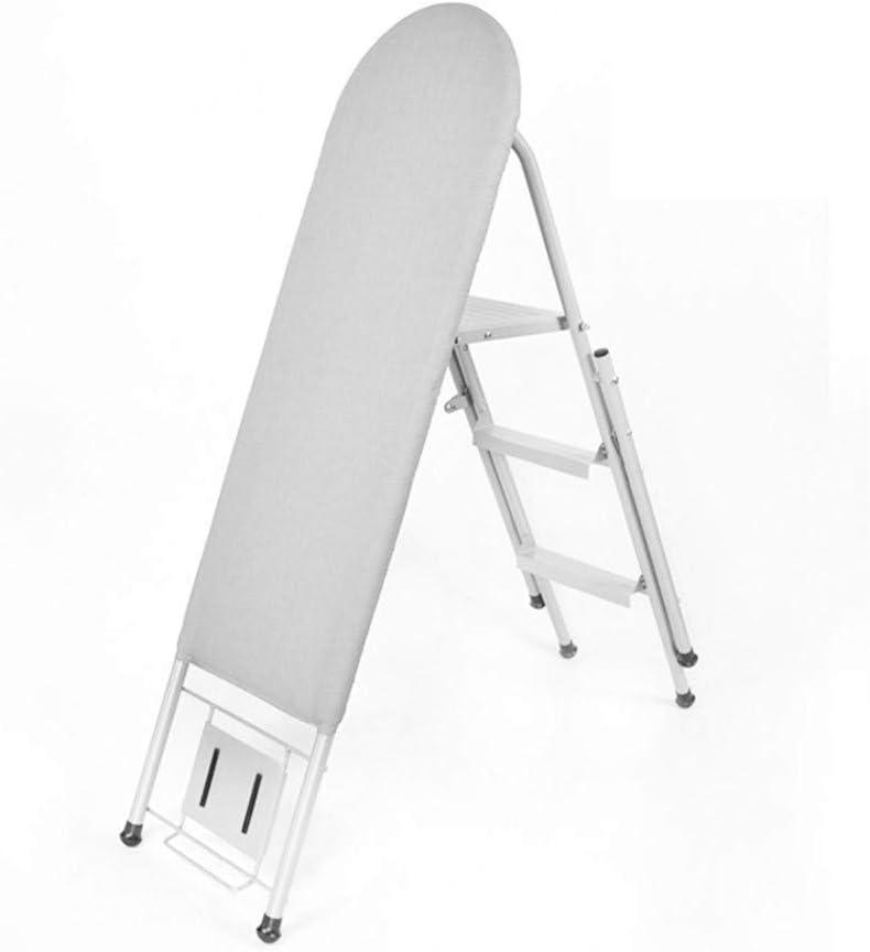 Z-Hawvii Z-W-Dong Hotel Tabla de planchar, escalera multifunción, tabla de planchar, resistente, fácil de plegar, 124 x 15 x 36,5 cm, metal, gris, 124*15*36.5CM: Amazon.es: Hogar