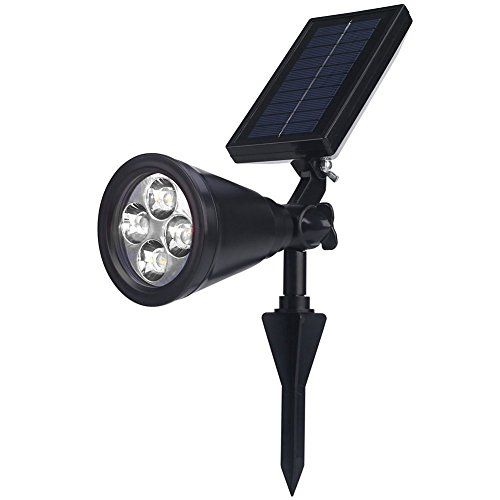 Deckey Solar Lights Spotlight RGB Outdoor Lands...