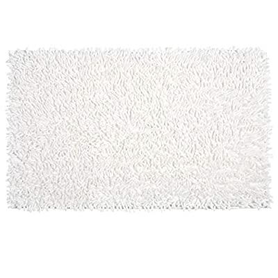 Vdomus Soft Microfiber Shag Bath Rug, Extra Absorbent Comfortable, Anti-Slip,Machine-Washable Large Bathroom Mat (White 32'' X 20'') - [Professionally designed by VDOMUS] - Unlike most cotton bath mats that slide all over your bathroom floor while you step on it.This soft rug with anti-skid backing adds extra protection for elders and babies. Larger Size, Longer Shag, SAME PRICE. [Super Soft and Shaggy] This mat is constructed with thousands of individual microfiber shags, its plush design provides excellent absorbency and mildew resistance, leaving your bathroom clean and dry every day. [Updated Anti-Skid Backing] Features non-skid bottom, keeps the bath rug in place even when wet. This durable non-slip backing will not fade, keeping the mat in place for years. The non-slip backing provides added piece of mind when used with children/kids or elders, keeping wet feet off of slipper tile and off of a slippery bathroom rug. - bathroom-linens, bathroom, bath-mats - 41fNXy2Eb%2BL. SS400  -