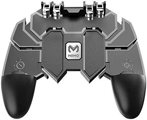 LXCN® AK-66 Six Finger All-in-One PUBG Remote Controller Gampad for All Android & iOS Mobile Phones Size Upto 6.5″ inch – [Colour Black]