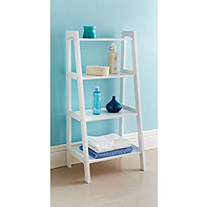 Cool Ladder Shelf Bathroom Storage Unit Amazon Co Uk Diy Tools Beutiful Home Inspiration Truamahrainfo